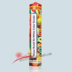 Renkli Sis Bombası Beyaz 1 dk